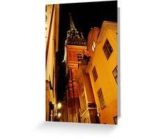 Stockholm at Night  4  (Sweden) Greeting Card
