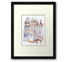 Three Torahs Framed Print