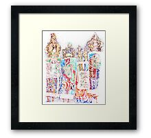 Four Torahs Framed Print