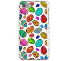 Easter Eggs on White Design iPhone Case/Skin