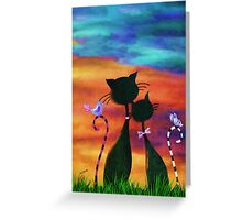 Cats & Dreams Greeting Card