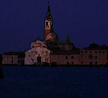 San Giorgio Maggiori at Night by Michael Henderson