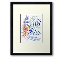 Colorful Breastplate Framed Print