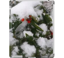 Snow Cover Holly iPad Case/Skin