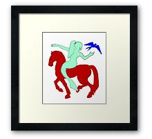 Gaia Says...A Horse Needs A Fish! Framed Print