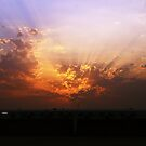 Kuwait at sunset by Kyle Jerichow
