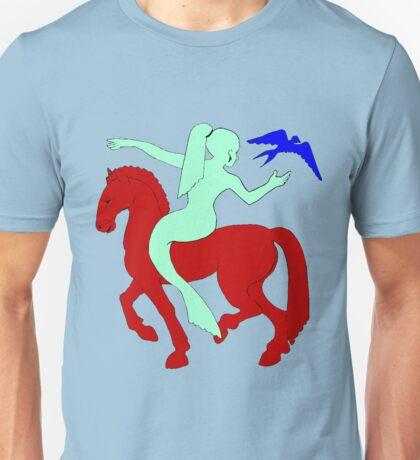 Gaia Says...A Horse Needs A Fish! Unisex T-Shirt
