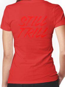 Still Trill V2 [Red Ink]   FTS Women's Fitted V-Neck T-Shirt