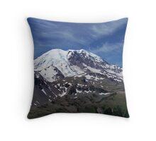 Mount Rainier In Summer Throw Pillow