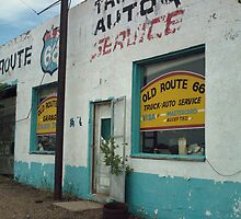 Old Route 66 Garage New Mexico by Paul Butler