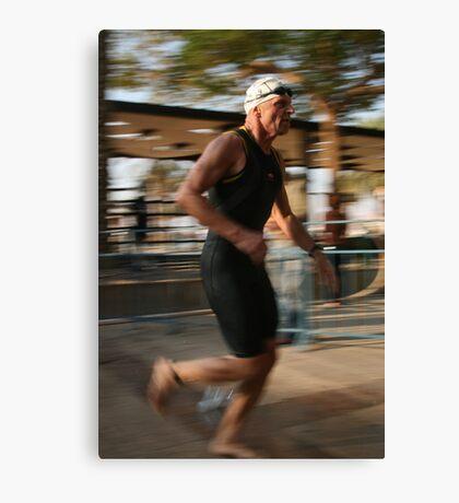 triathlon runner Canvas Print