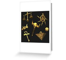 Falling Millennium Items - 3D Rendered Greeting Card