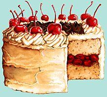 Cherry Cake Photographic Print