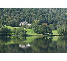 Deer Bolts Lodge Reflection - Grasmere Lake Photographic Print