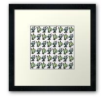 Checkered Gir pattern Framed Print