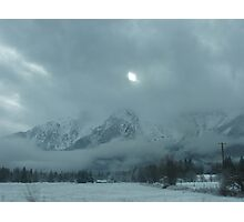 White Horse Mountain Blanketed In Snow Photographic Print