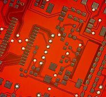 Red & Gold Circuitry by lightmonger