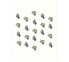 Checkered Gir pattern [Diagonal] Art Print