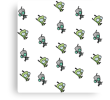 Checkered Gir pattern [Diagonal] Canvas Print