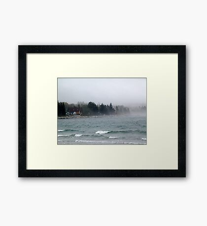 Summerville Beach Framed Print