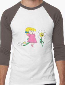 Pretty Pretty Flower Men's Baseball ¾ T-Shirt