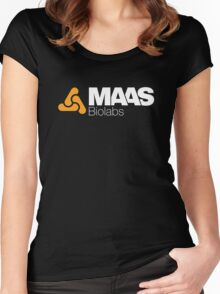 MAAS Biolabs Corporate Logo - White Women's Fitted Scoop T-Shirt
