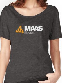 MAAS Biolabs Corporate Logo - White Women's Relaxed Fit T-Shirt