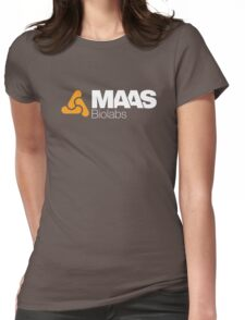 MAAS Biolabs Corporate Logo - White Womens Fitted T-Shirt