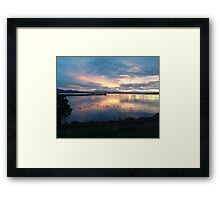 Quiet time on the Bay Framed Print