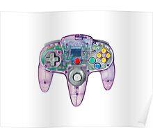 Nintendo 64 Controller Atomic Purple Poster