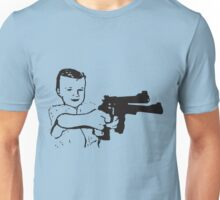 Boy With Gun Unisex T-Shirt