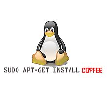 Linux - Get Install Coffee Photographic Print