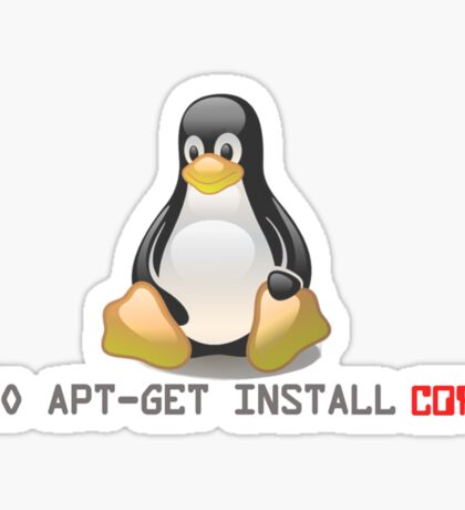 Linux - Get Install Coffee Sticker