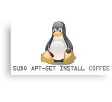 Linux - Get Install Coffee. Metal Print