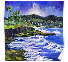 Blue Moon Over Laguna Beach Poster