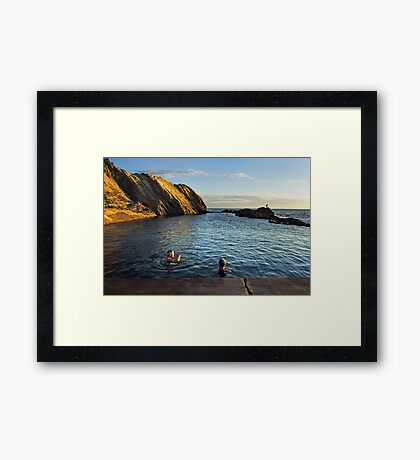 Bermagui Blue Pool Framed Print