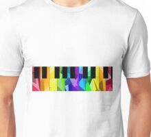 Rainbow Piano Unisex T-Shirt