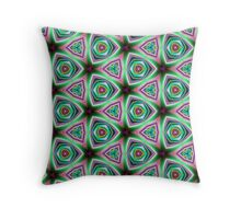 Psychedelic Neon Pillow cover/Tote Bag design. Throw Pillow