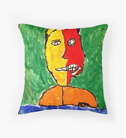 Two-Face ( By Willem Dicandia )  Throw Pillow