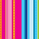Bright stripes with stars by Kat Massard