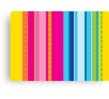 Bright stripes with stars Canvas Print