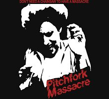 Pitchfork Massacre (Dark Backgrounds) Unisex T-Shirt