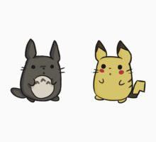 Totoro and Pikachu by prspark