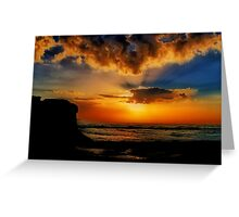 """Jan Juc Sunrise"" Greeting Card"