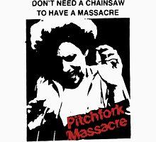 Pitchfork Massacre (Light backgrounds) Unisex T-Shirt