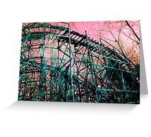 Abandoned Roller Coaster Greeting Card