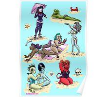 Monster girl beach party  Poster