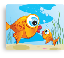 Critterz - Fish - Olive & Pickles Canvas Print