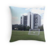 Soccer and High Rise Throw Pillow