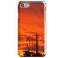 Late Sunset Over Sixflags iPhone Case/Skin